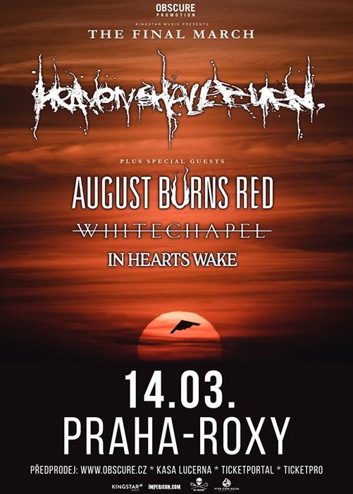 Live-report: Heaven Shall Burn/August Burns Red/Whitechapel/In Hearts Wake